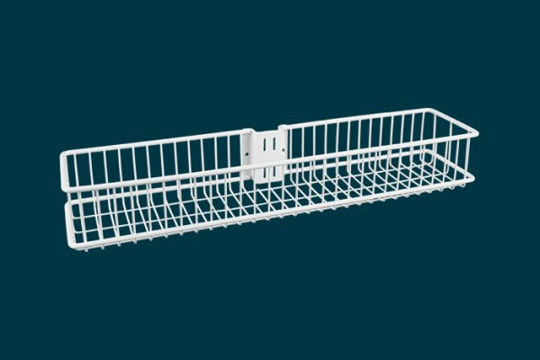 Flexi Storage Home Solutions Medium Shallow Storage Basket White isolated