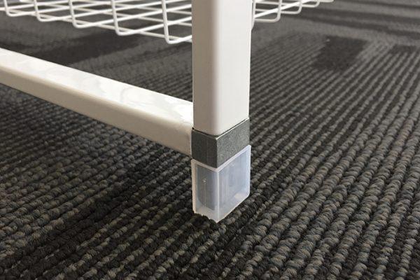 Flexi Storage Home Solutions Runner Frame Feet installed on Runner Frame via T Connector