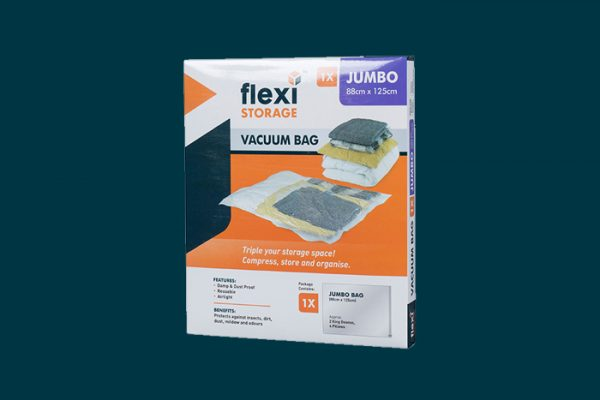 Flexi Storage Vacuum Storage Bag Jumbo packaging isolated