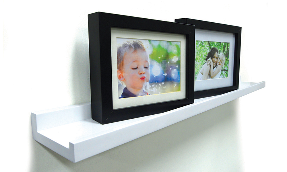 Flexi Storage Photo Shelf installed on wall