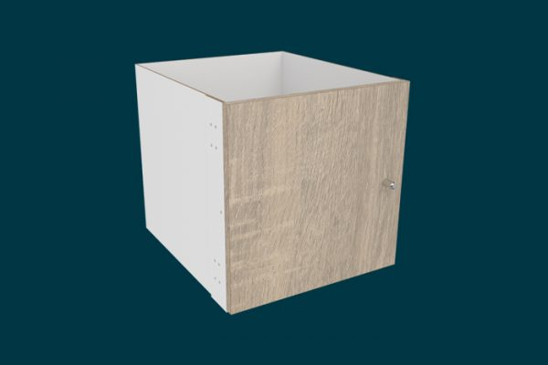 Flexi Storage Clever Cube Timber Insert 1 Door Oak isolated