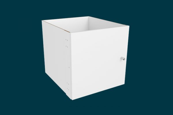 Flexi Storage Clever Cube Timber Insert 2 Door White High Gloss isolated