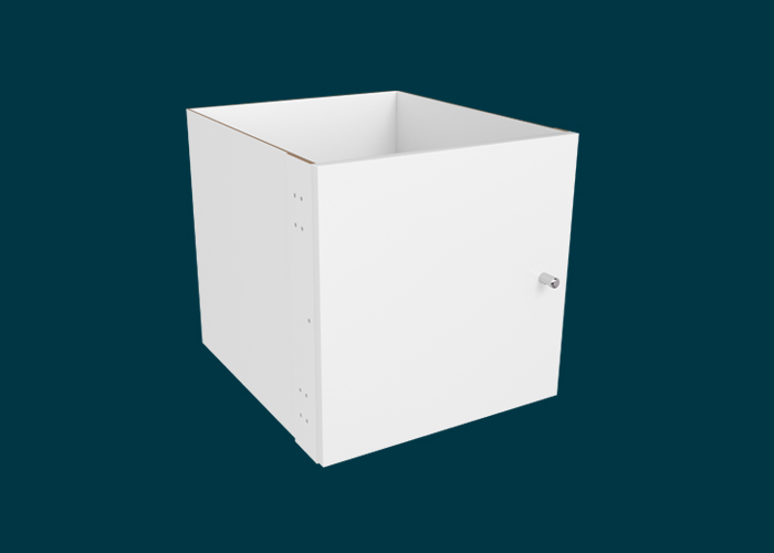 Clever Cube Timber Insert 1 Door White High Gloss