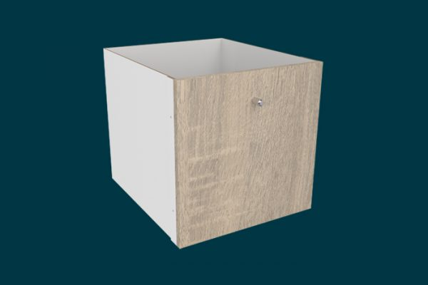 Flexi Storage Clever Cube Timber Insert 1 Drawer Oak isolated
