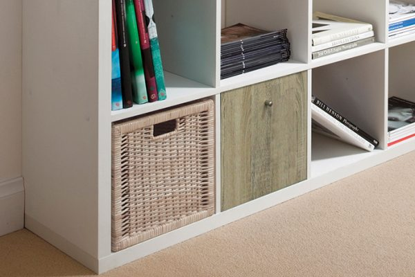 Flexi Storage Clever Cube Timber Insert 1 Drawer Oak installed in Flexi Storage Clever Cube Unit