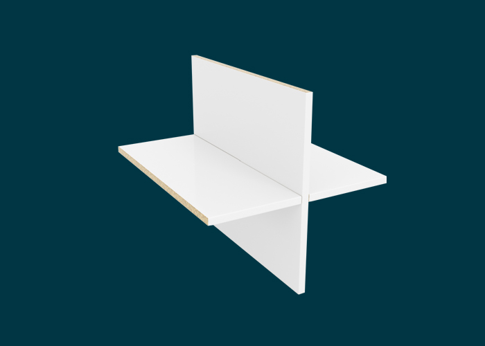 Clever Cube Timber Insert Divider White High Gloss