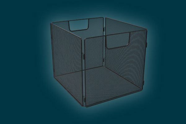 Flexi Storage Clever Cube Wire Insert Mesh Black isolated