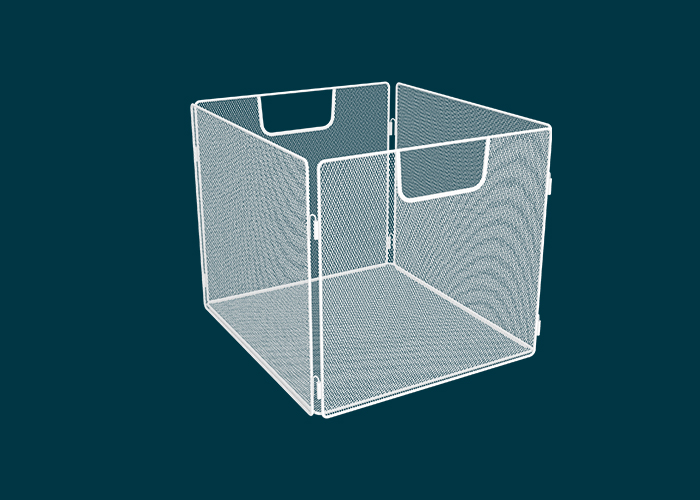 Clever Cube Wire Insert Mesh White