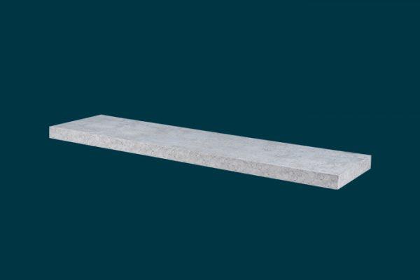 Flexi Storage Decorative Shelving Floating Shelf Grey Concrete 900 x 240 x 38mm isolated
