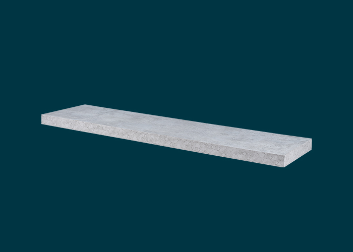 Floating Shelf Grey Concrete 900x240x38mm