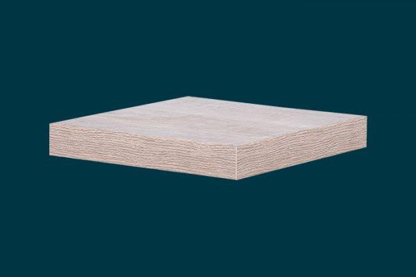 Flexi Storage Decorative Shelving Floating Shelf Oak 250 x 250 x 38mm isolated