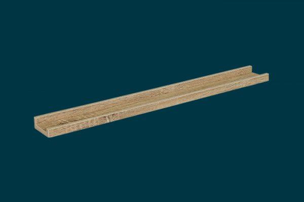 Flexi Storage Decorative Shelving Photo Shelf Oak 900x100x35mm isolated