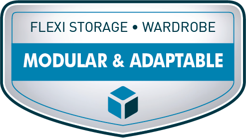 Flexi Storage Wardrobe Modular & Adaptable Capabilities Graphic