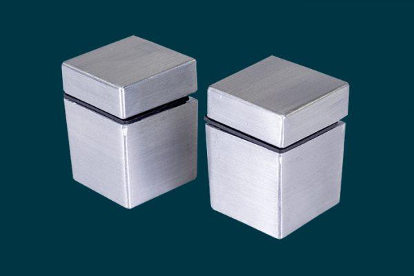 Flexi Storage Decorative Shelving Cube Shelf Clip Aluminium 2 Pack isolated