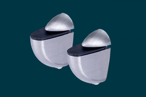Flexi Storage Decorative Shelving Mini Shelf Clip Aluminium 2 Pack isolated