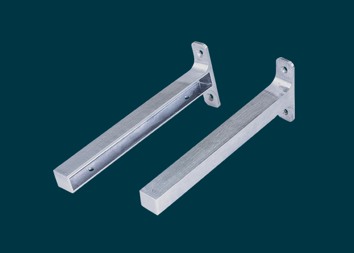 Timber Shelf End Brackets Left & Right 250mm Aluminium