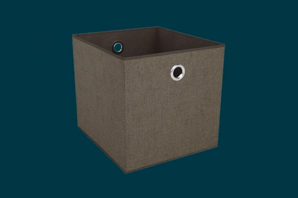 Flexi Storage Clever Cube Premium Fabric Insert Chestnut Bronze isolated