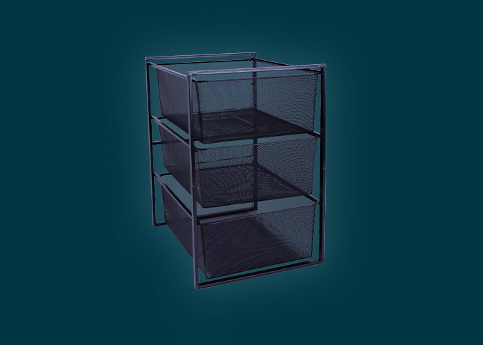 Home Solutions 3 Mesh Basket & Frame Kit Black