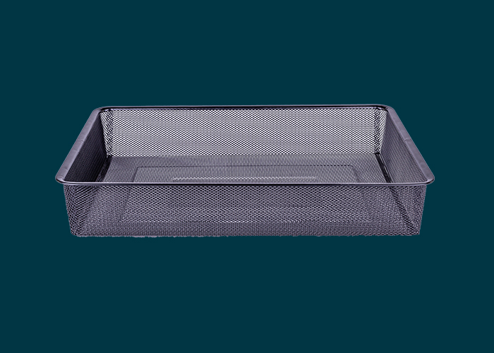 Home Solutions Full Width Mesh Basket 1 Runner Black 85mm