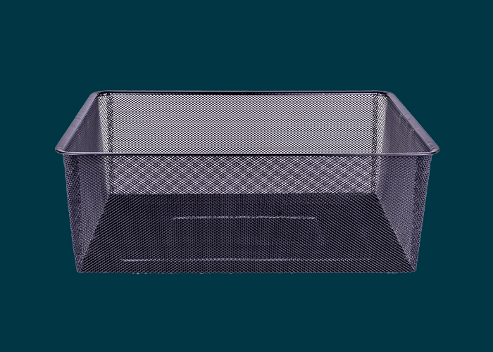 Home Solutions Full Width Mesh Basket 2 Runner Black 185mm
