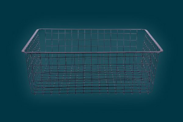 Flexi Storage Home Solutions Full Width Wire Basket 2 Runner 185mm isolated