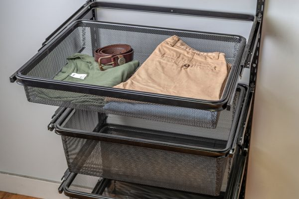Flexi Storage Home Solutions Sliding Basket Frame Black fitted as a series of drawers