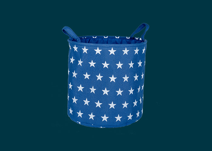 Kids Toy Storage Basket Navy Stars