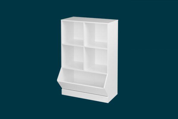 Flexi Storage Kids 2x2 Storage Cube with Toy Bin isolated