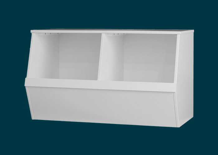 Kids Double Storage Box White