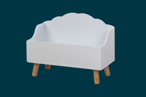 Flexi Storage Kids Open Cloud Toy Chest White isolated