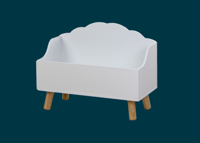 Kids Open Cloud Toy Chest White