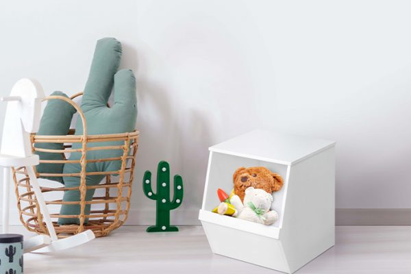 Flexi Storage Kids Storage Box White in a kids room